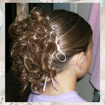 Flower Girl Up Do